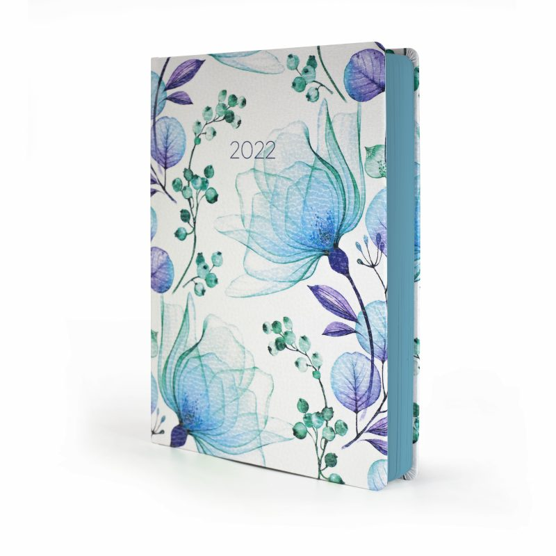 2022 Blue Blossom MOM Diary with floral cover