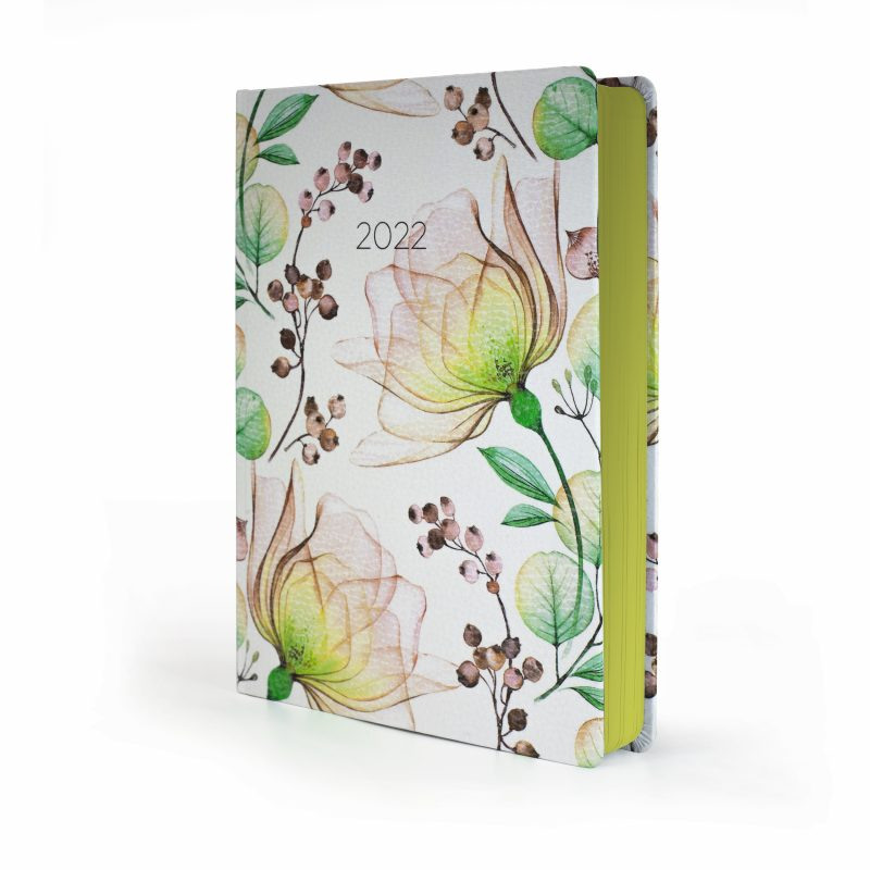 2022 Yellow Blossom MOM Diary with floral cover