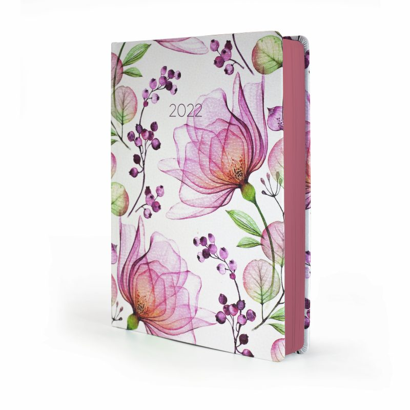 2022 Pink Blossom MOM Diary with floral cover
