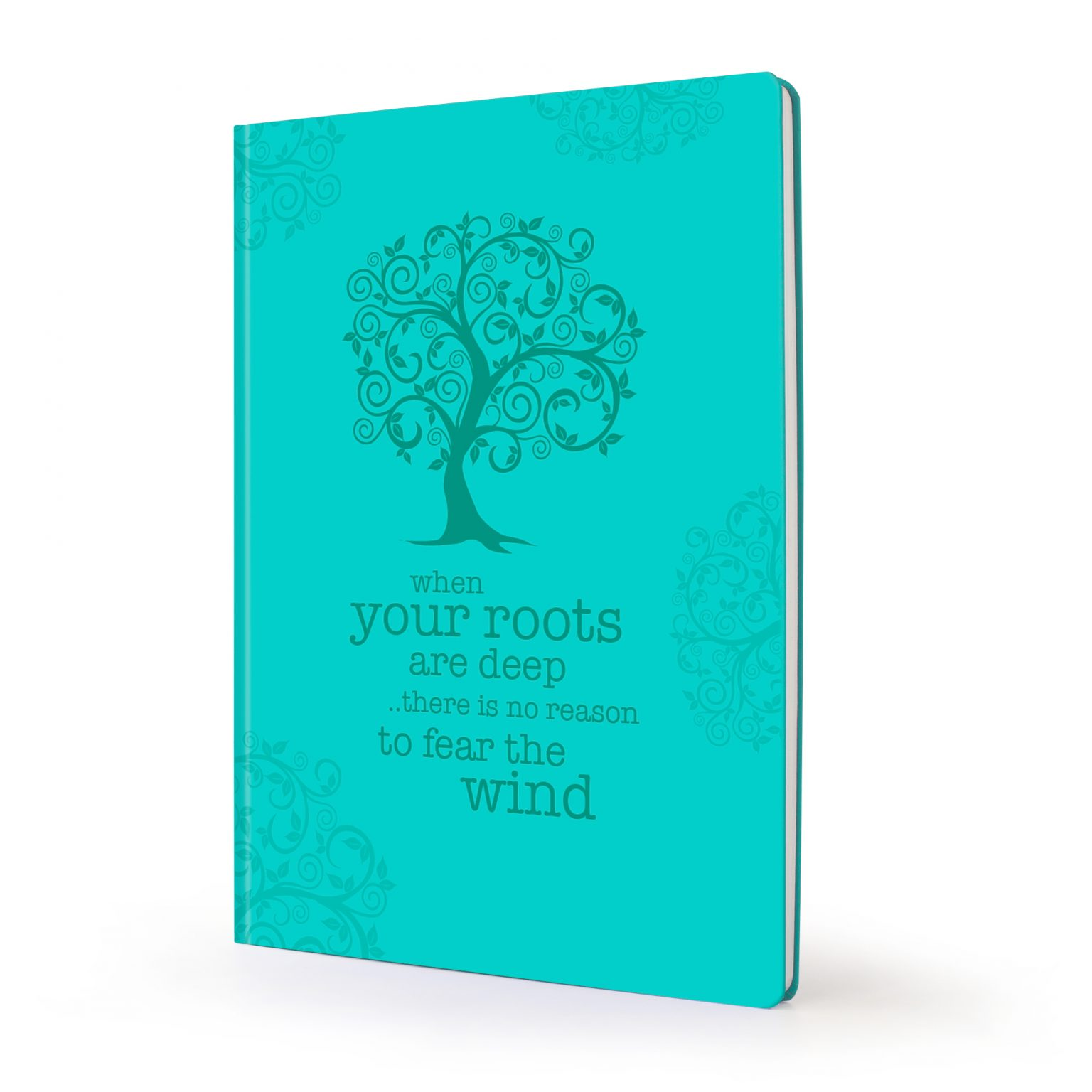 Image shows green tree Scribblz Journal