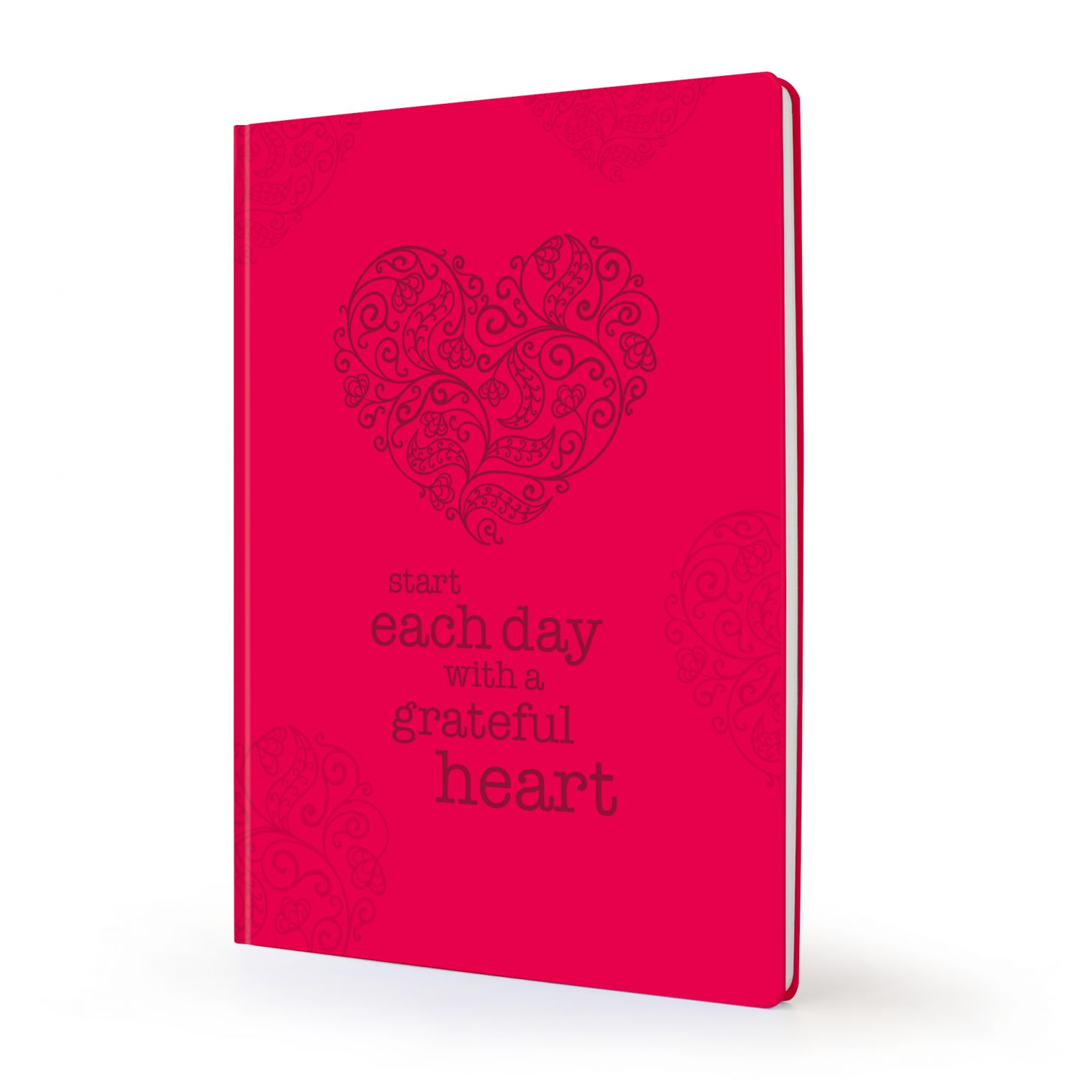 Image shows red heart Scribblz Journal