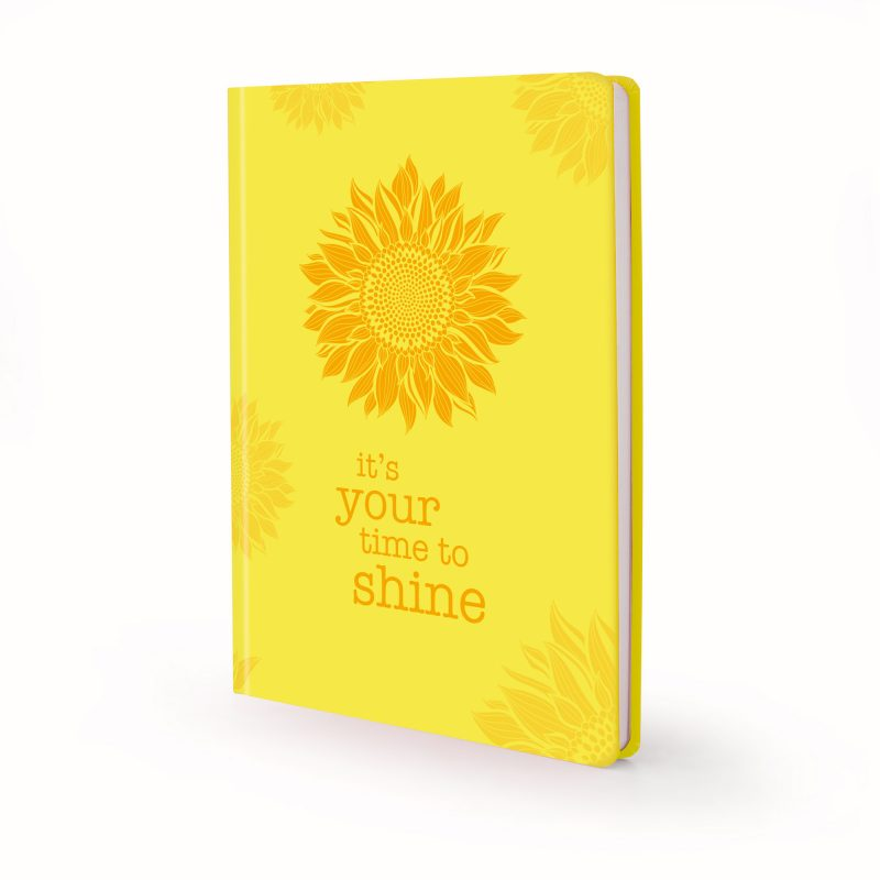 Image shows yellow sunshine Scribblz Journal