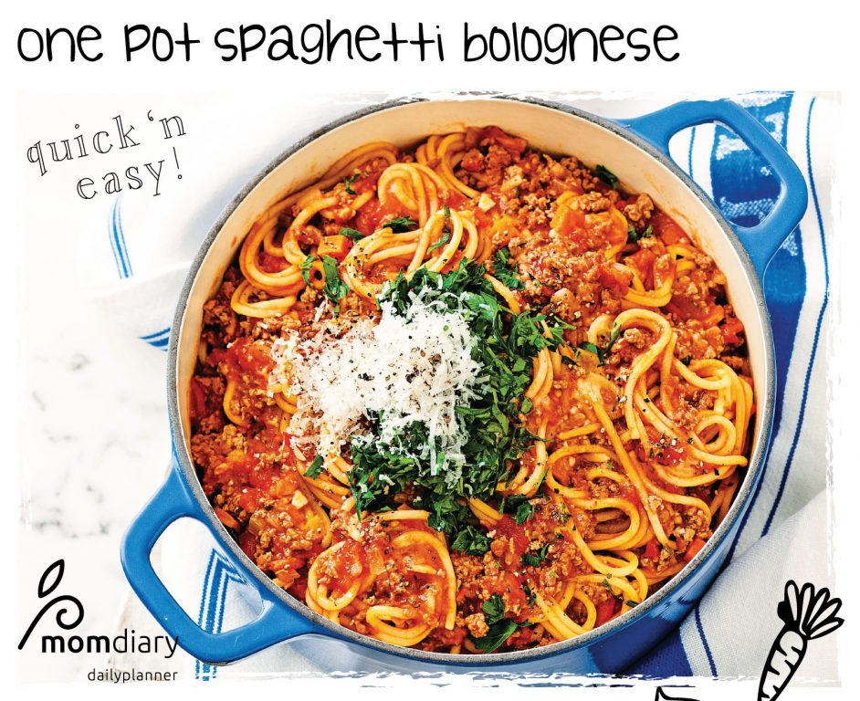 One pot spaghetti bolognese recipe