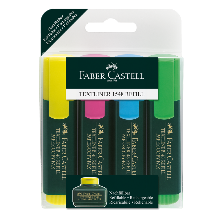Image shows a set of Faber-Castell highlighters - 4