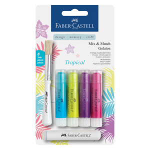 Image shows 4 Tropical Faber-Castell Gelatos