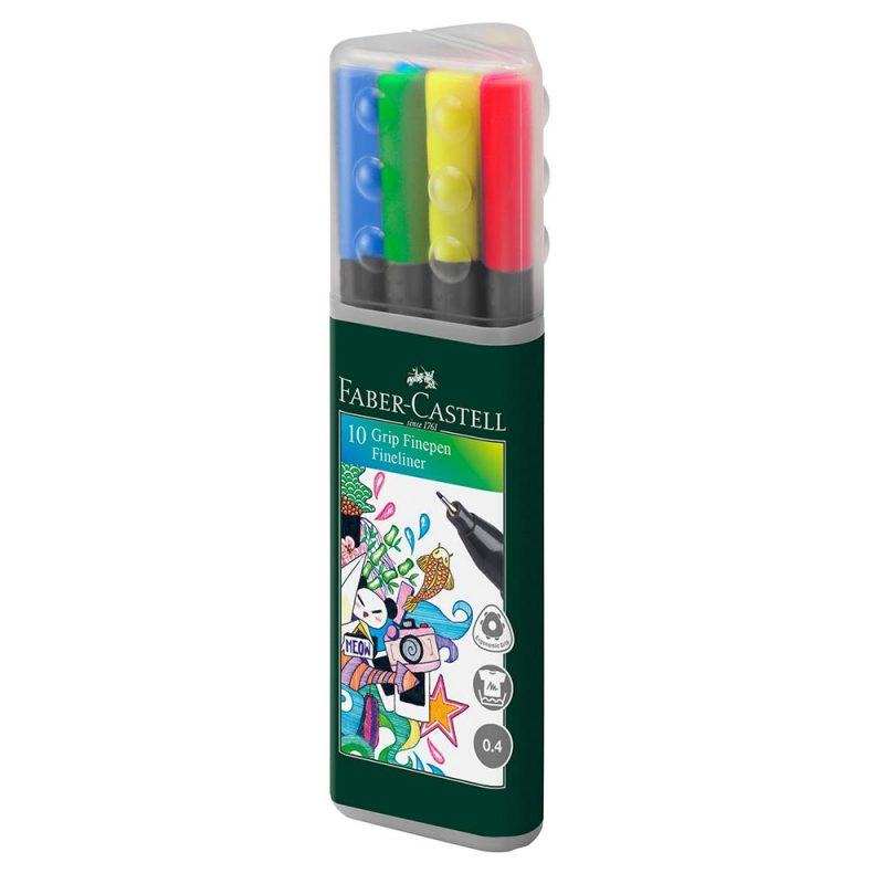 Image shows Faber-castell Grip Fine pens - 10