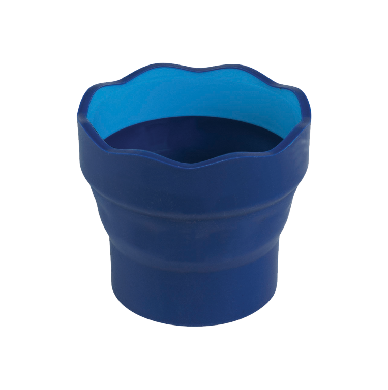 Image shows a blue Faber-Castell waterpot