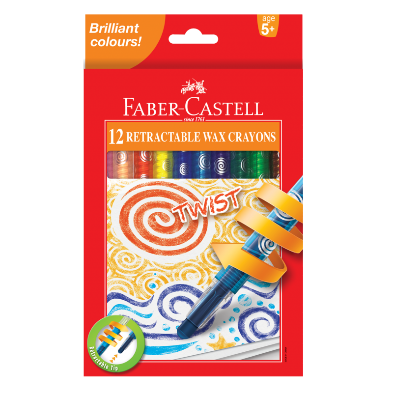 Image shows Faber-Castell Retractable wax crayons