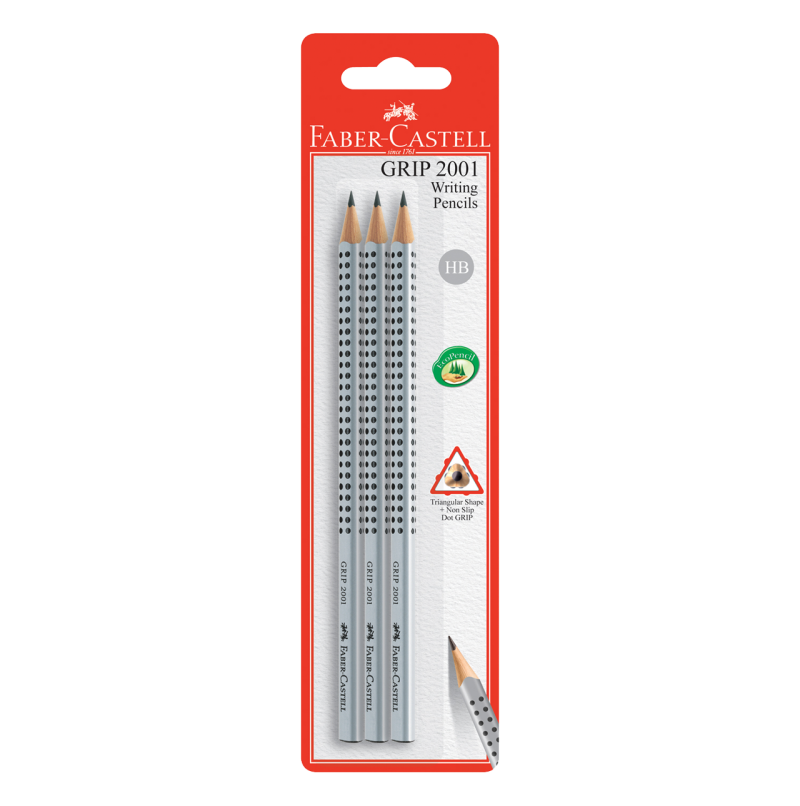 Image shows 3 Faber-Castell Grip pencils