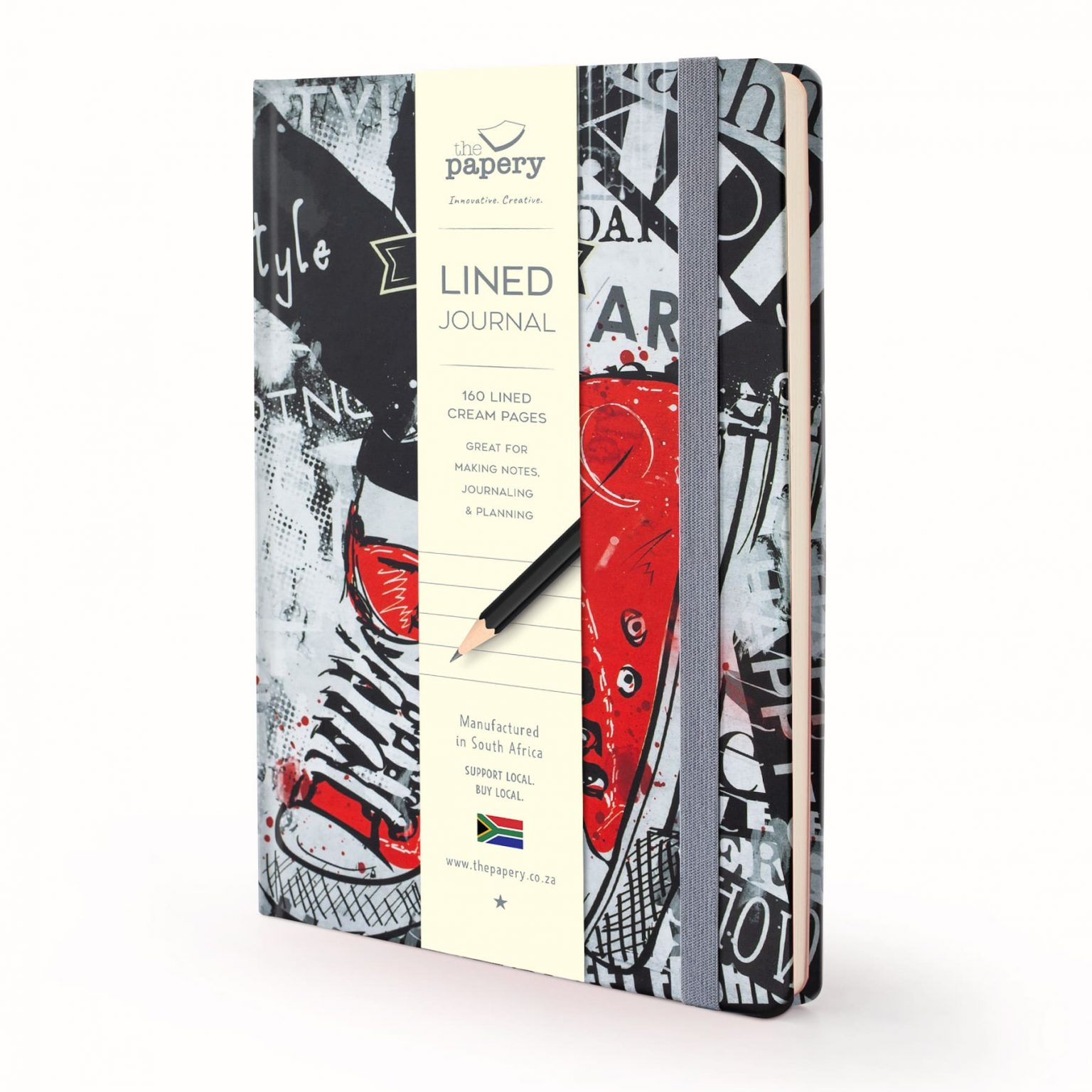 Image shows a Designer Retro - Red Sneakers Journal