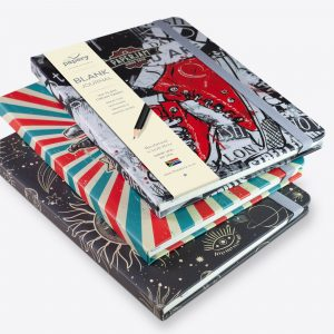 Image shows three of the Retrol Designer Hardcover Journals