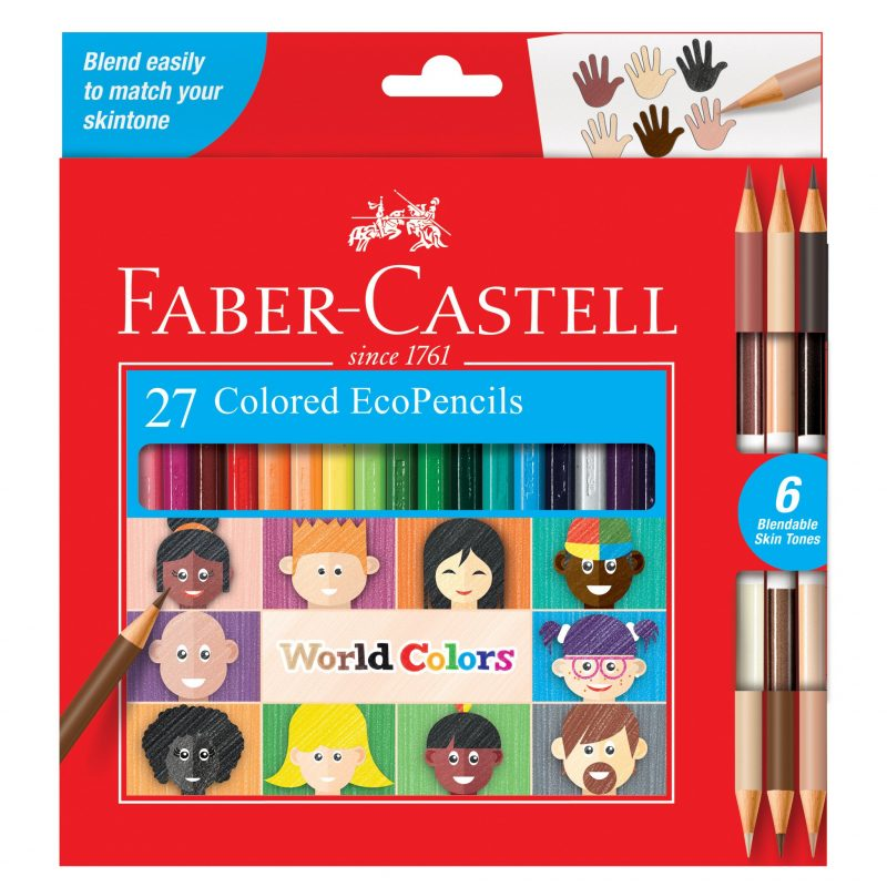 Image shows the front of 27 packaged Faber-Castell Colored Eco Pencils