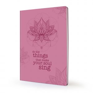 Image shows lotus pink Scribblz Journal