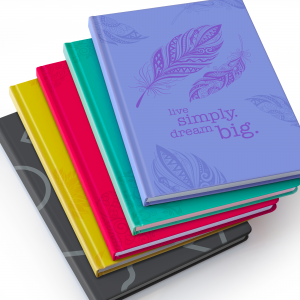Image shows group of 5 Scribblz Journal