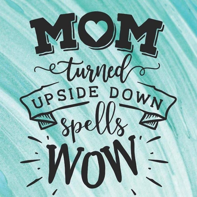 Image shows picture of MOM upside down as WOW