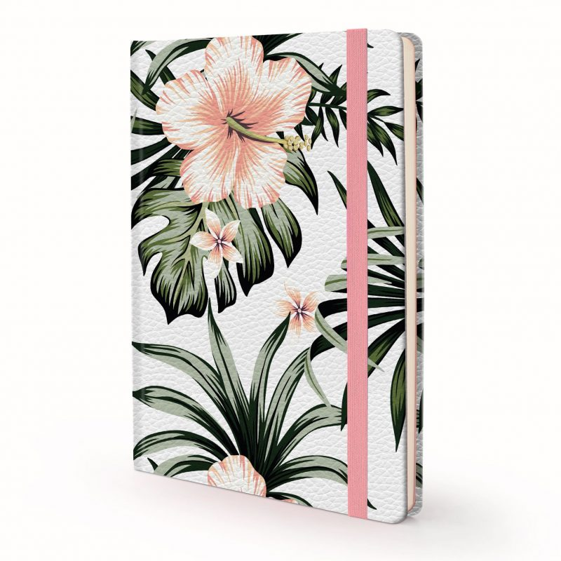 Image shows a Designer Floral -Hibiscus Journal