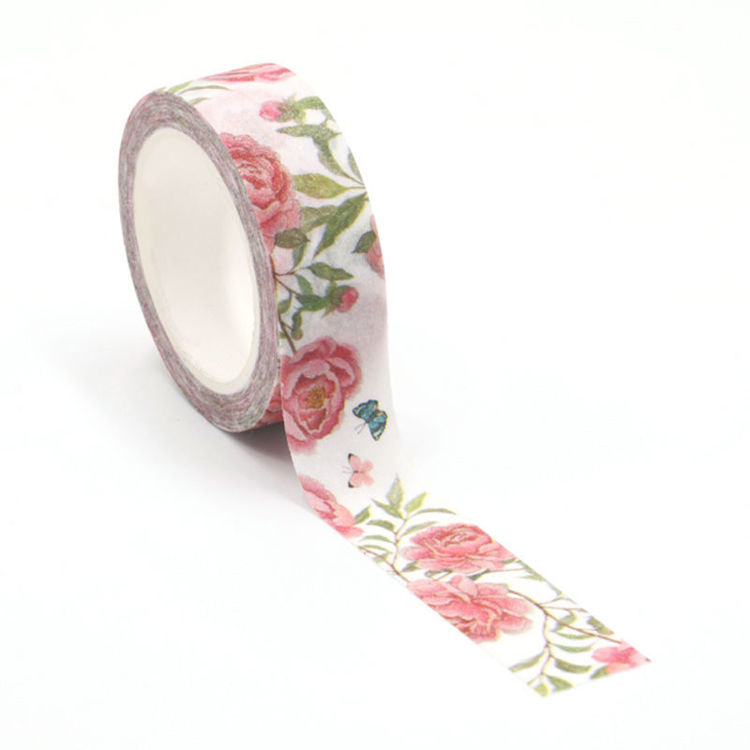 0002326 frosted flash film flowers butterfly washi tape 750