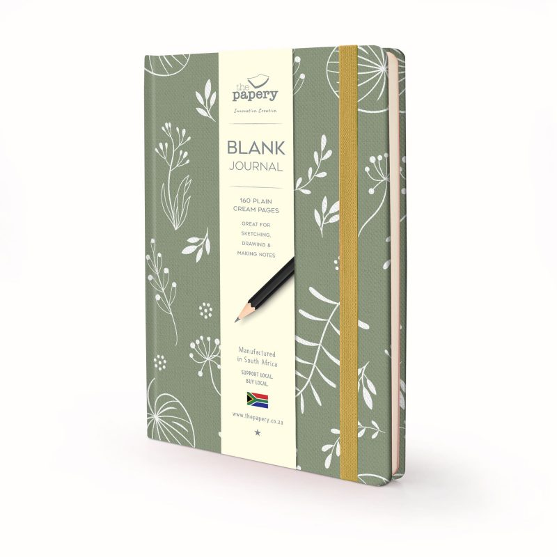Image shows a Nature Floral Hardcover journal