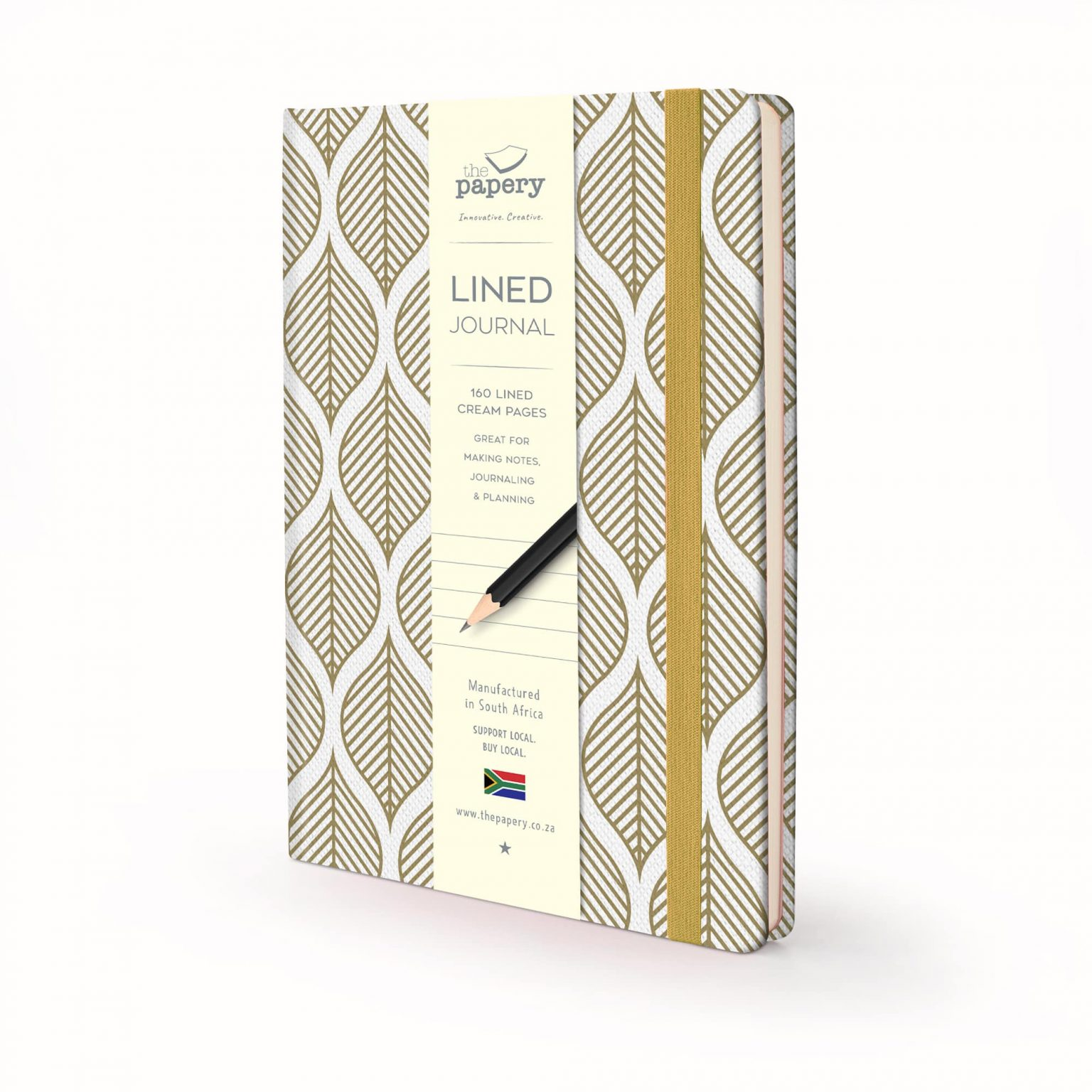 Image shows a Nature Geometric Leaves Hardcover journal