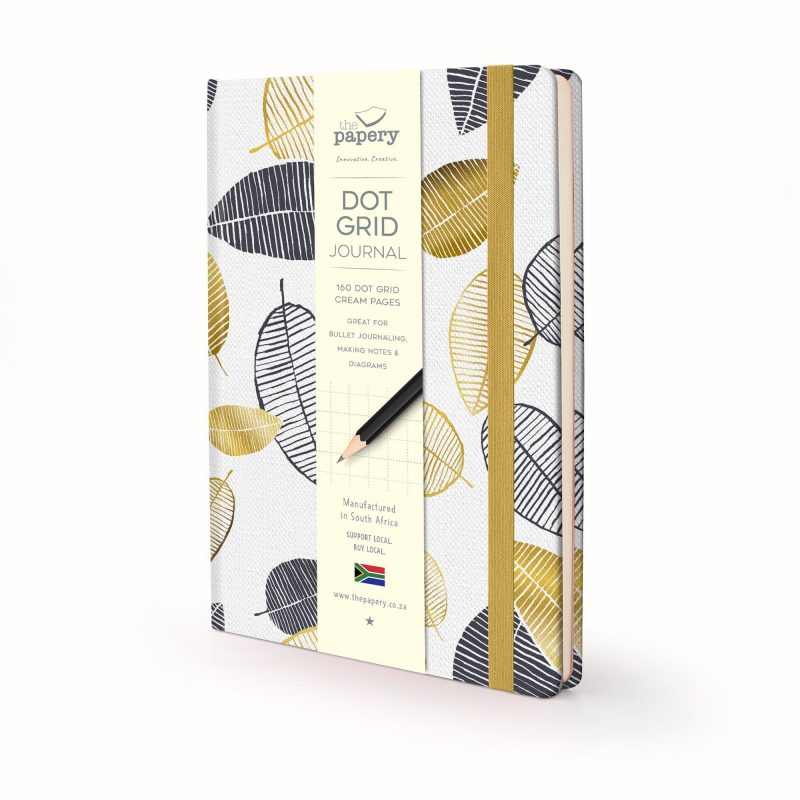 Image shows a Nature Gold Leaves Hardcover journal