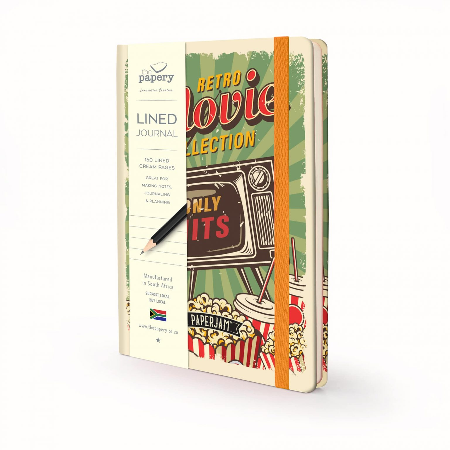 Image shows a Designer Retro - Popcorn Journal