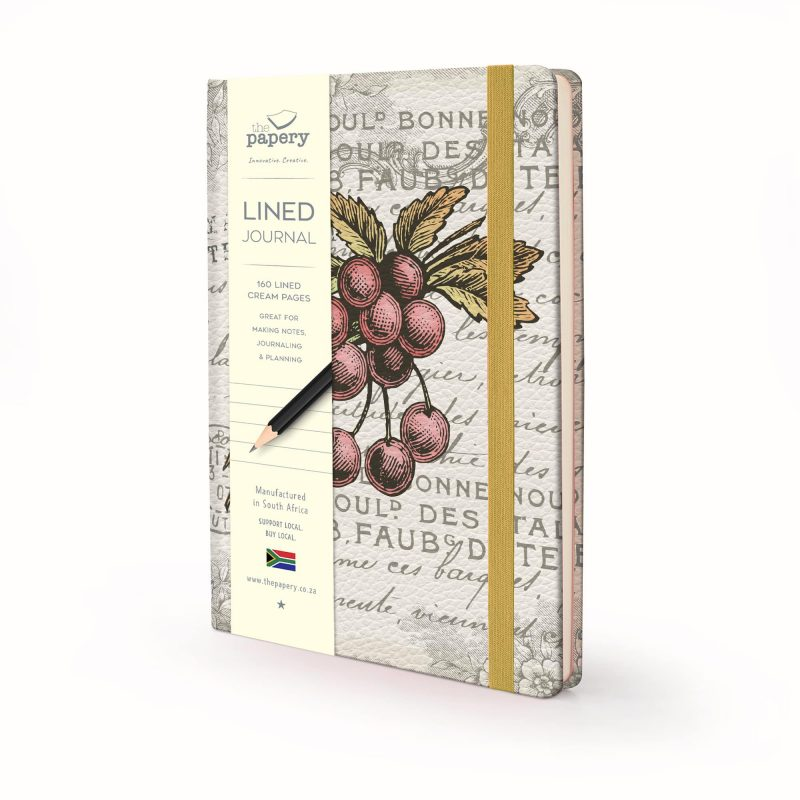Image shows a Vintage Berry Designed Hardcover Journal