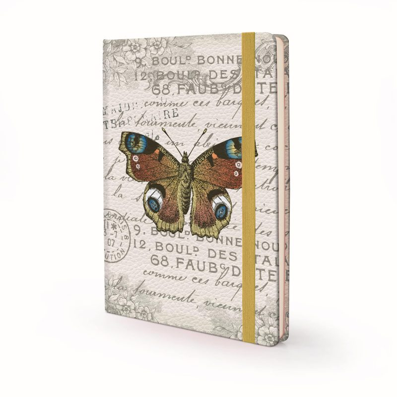 Image shows a Vintage Butterfly Designed Hardcover Journal
