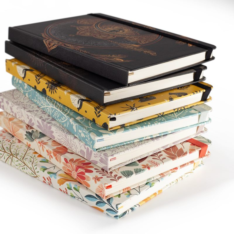Image shows a stock of Premium Paperjam Dotted Journals