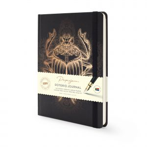Image shows Scarab Beetle Premium Dotted Journal