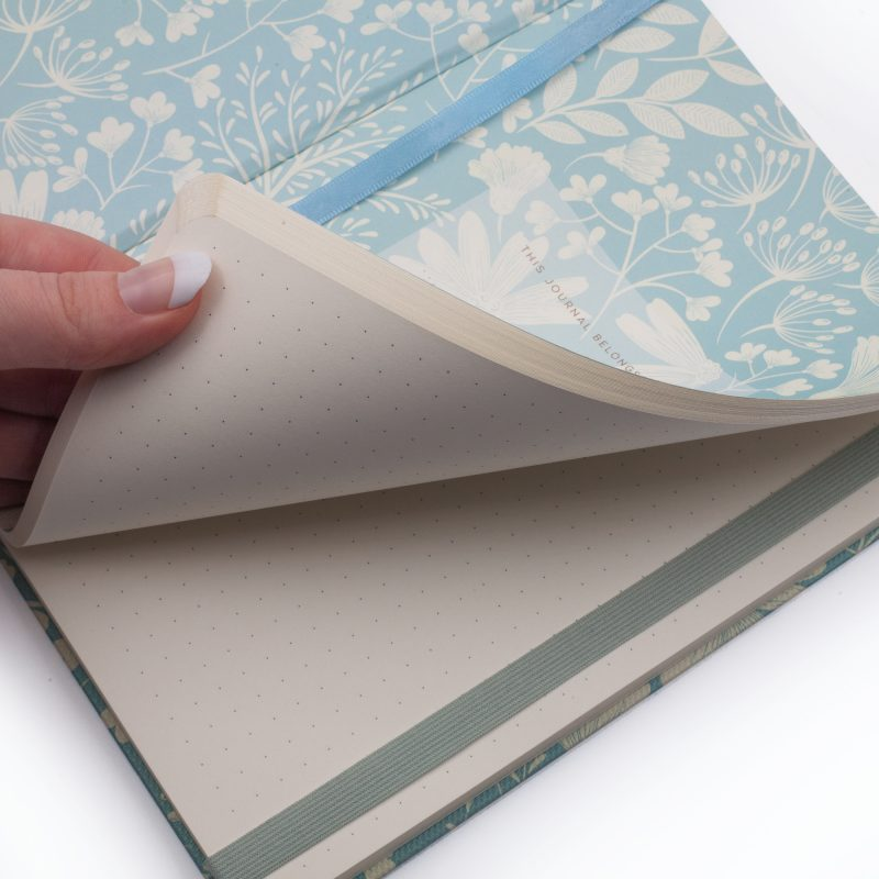 Image shows premium dotted journal inside pages