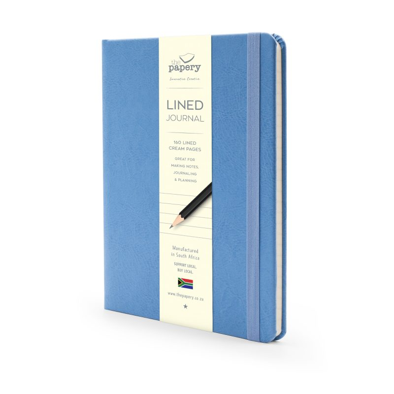 Image shows a Blue Classic Hardcover Journal