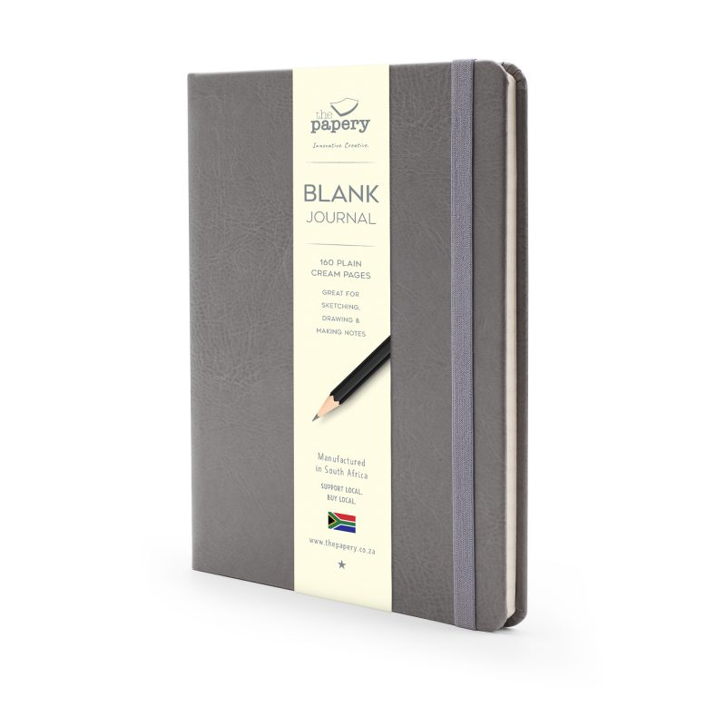 Image shows a Grey Classic Hardcover Journal