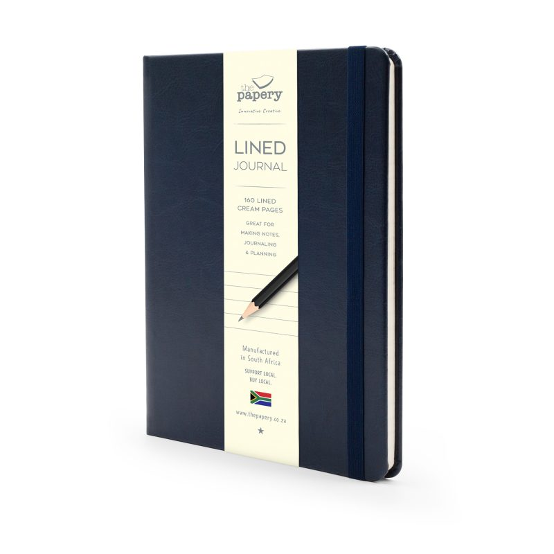Image shows a Navy Classic Hardcover Journal