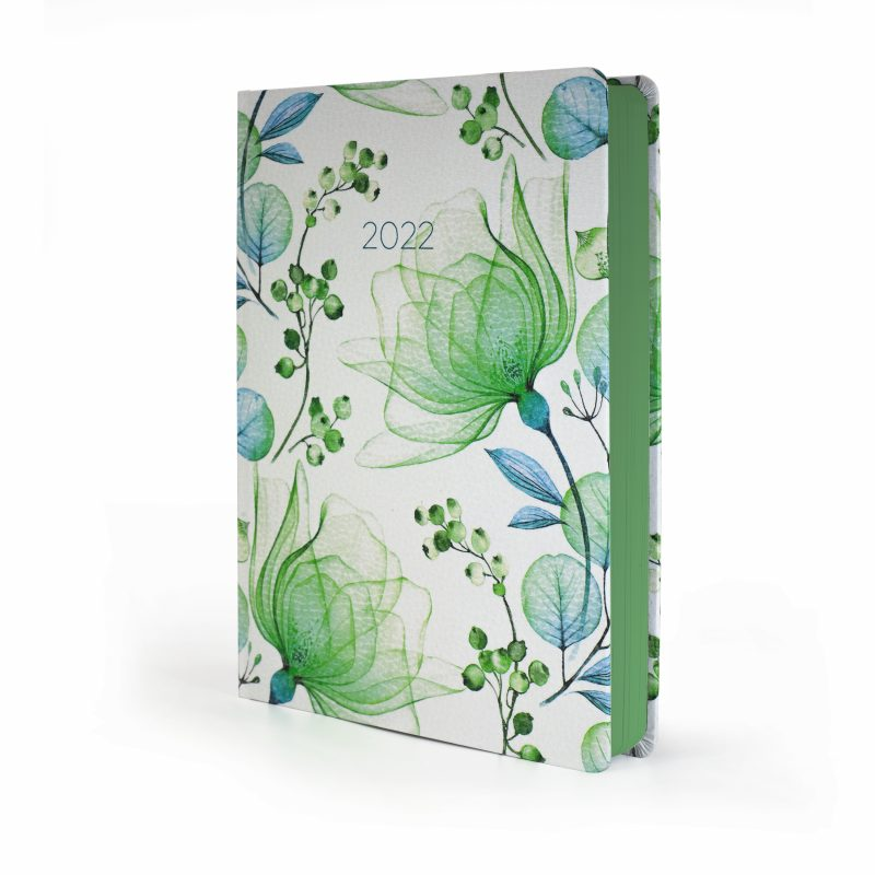 """Image shows 2022 Diary Green Blossoms """"WOW Diary"""""""